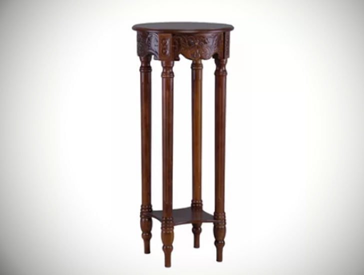 Windsor Hand Carved 2-Tier Table