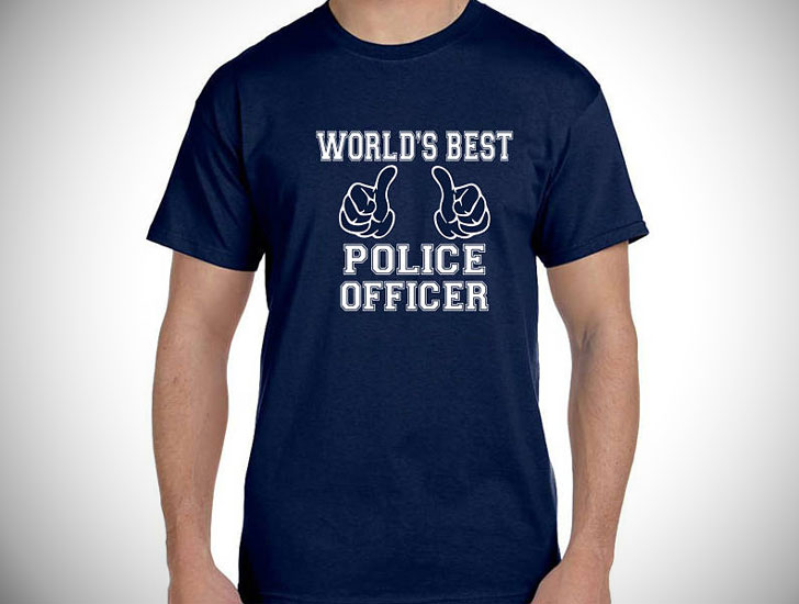 World's Best Police Officer T-Shirt - gifts for police officers