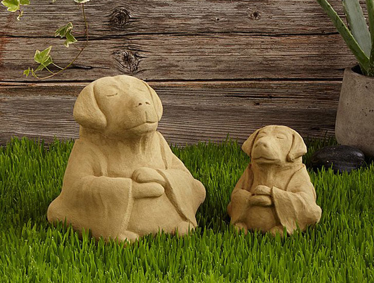 Zen Dog Garden Sculptures
