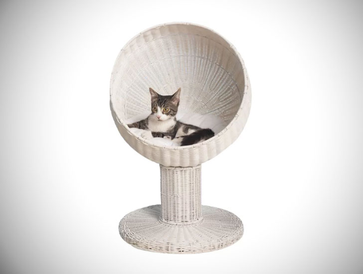 Ashleigh Kitty Ball Hooded Cat Bed