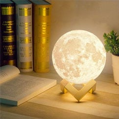 Bediside Moon Lamp