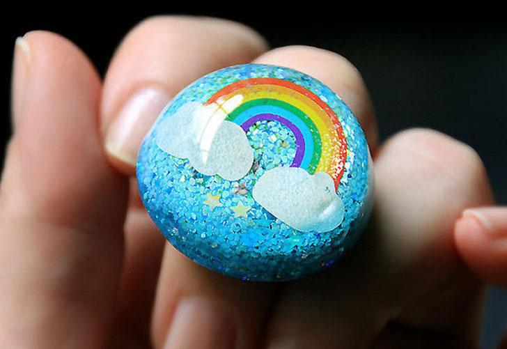 80s Fashion Inspired Rainbow Ring