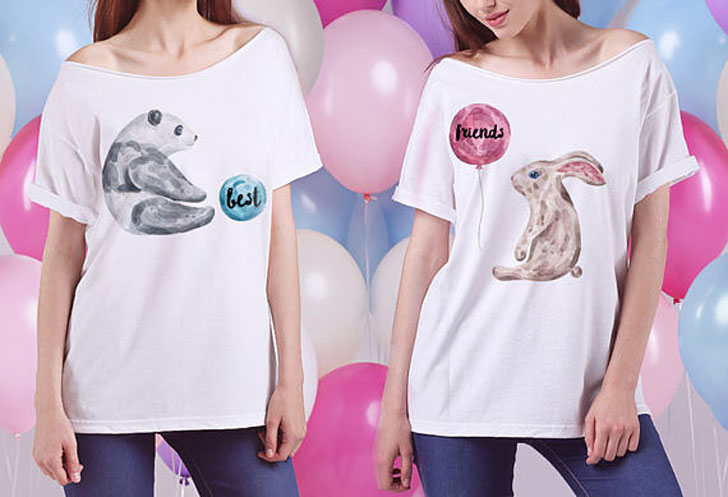 Adorable Best Friend Slouchy T-shirts
