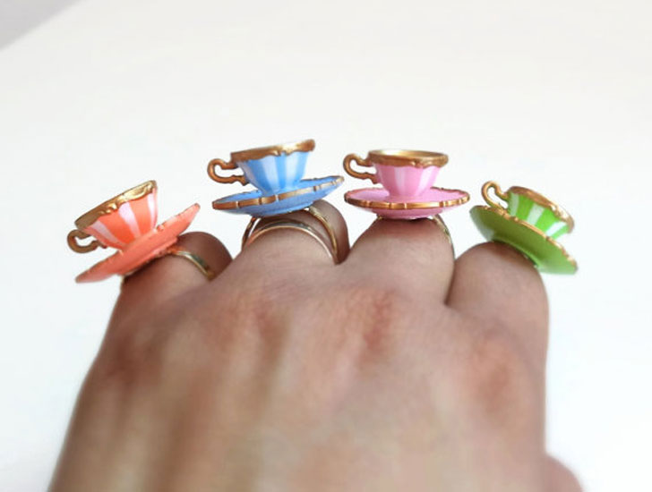 Alice Teacup Rings