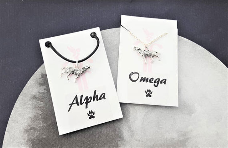 Alpha and Omega Couples Necklaces