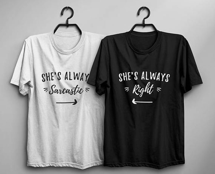 Always Sarcastic and Always Right BFF T-Shirts