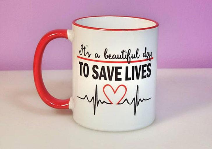Beautiful Day to Save Lives Nurse Mug