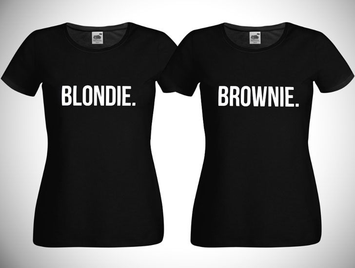 Blondie and Brownie BFF Shirts