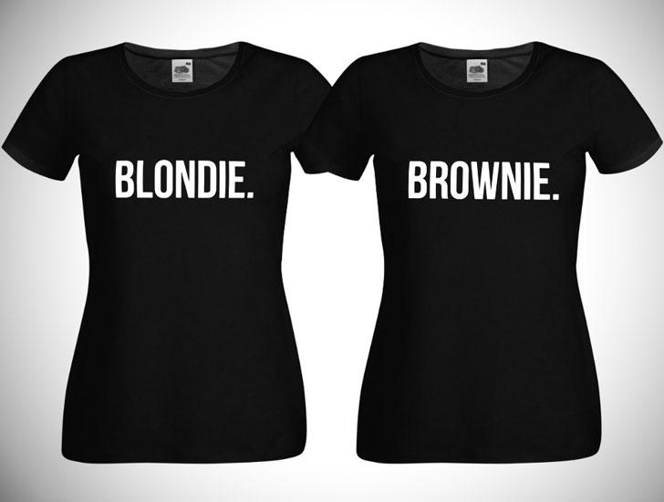 Blondie and Brownie BFF Shirts