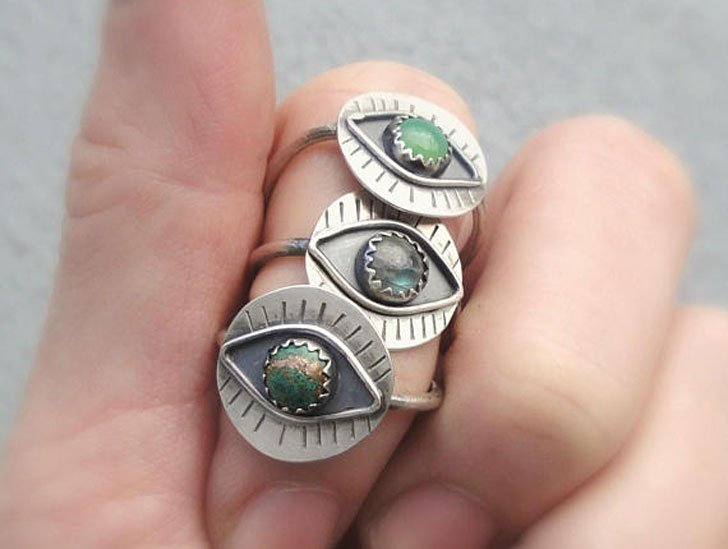 Boho Evil Eye Rings