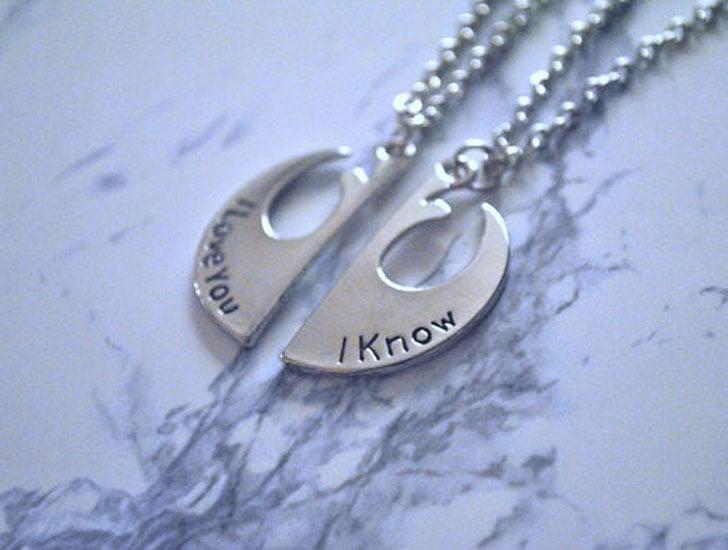 "Boyfriend and Girlfriend ""I Love You, I Know"" Necklaces"