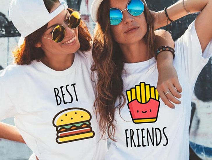 Burger & Fries Best Friend Shirts