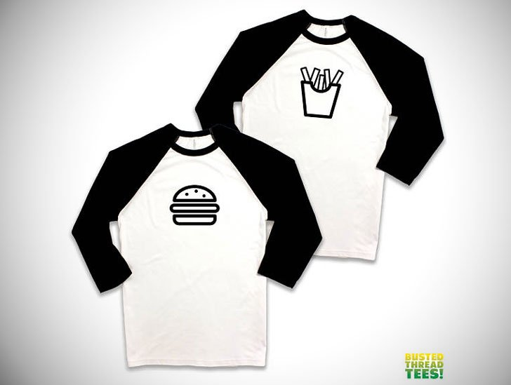 Burgers and Fries Baseball Raglan Tees