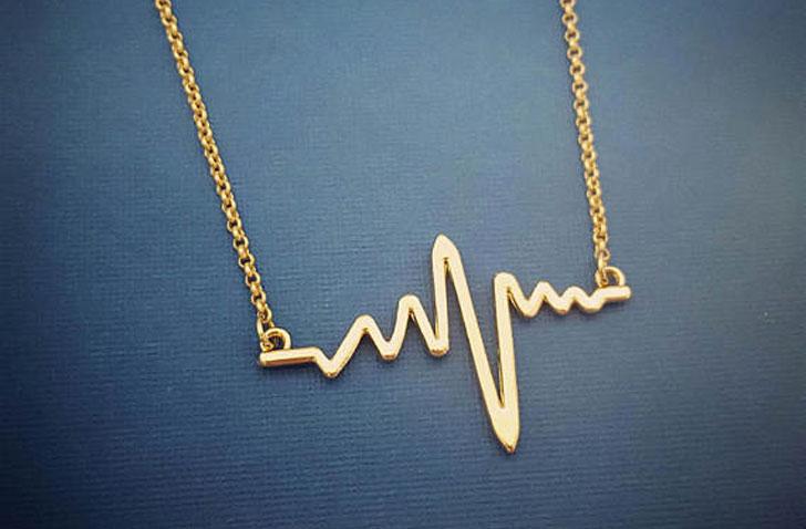 Cardiogram Heartbeat Necklace