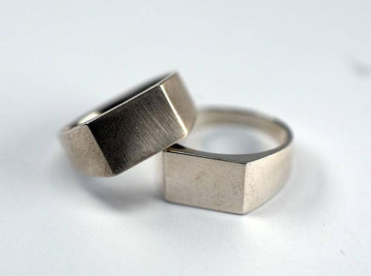 Classic Rectangle Signet Ring - Signet Rings for Men