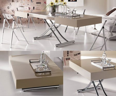 Cristallo Transforming Coffee-Dining Table