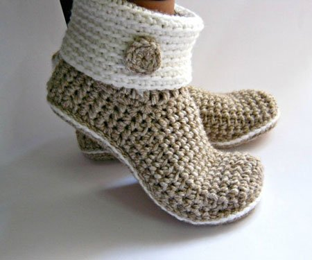 Crochet Slipper Boots
