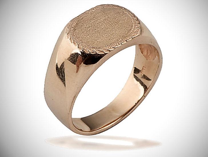 Custom 14k Gold Signet Ring
