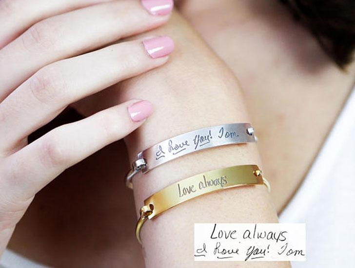 Custom Actual Handwriting & Signature Bracelets - Sentimental Gifts For Best Friends