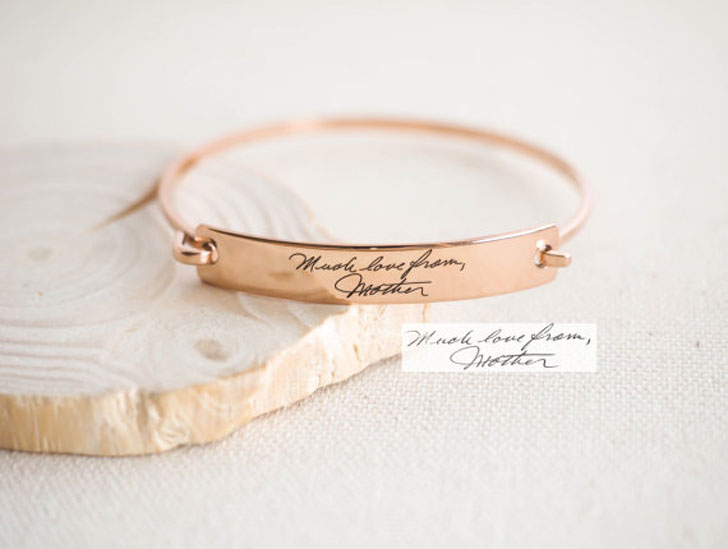 Custom Actual Handwriting & Signature Bracelets