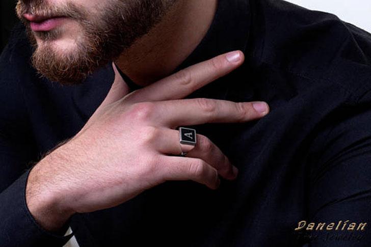 Custom Letter Signet Ring