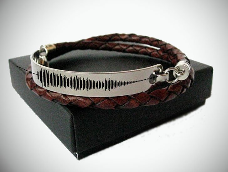 Custom Message Sound Wave Bracelet Wrap