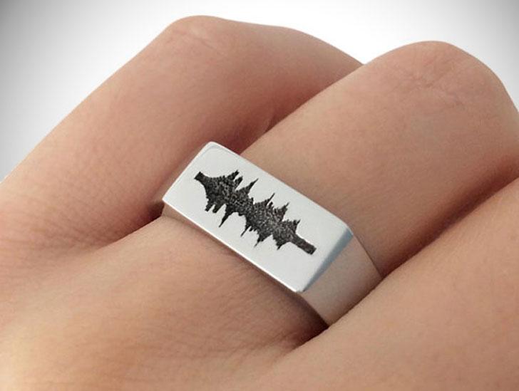 Custom Soundwave Signet Ring