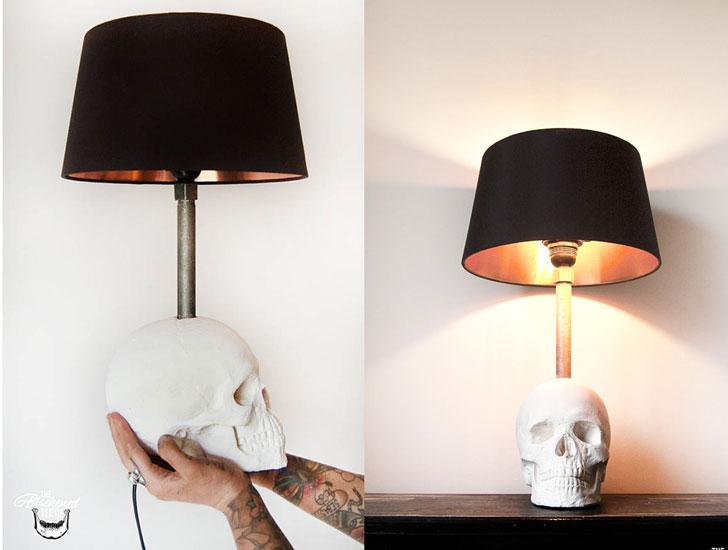 Edison Skull lamps