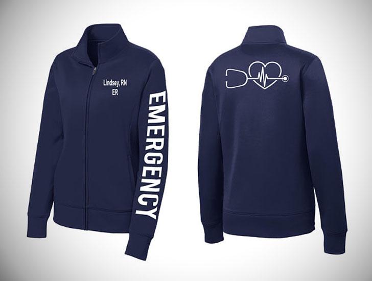 Embroidered Nursing ER Jacket
