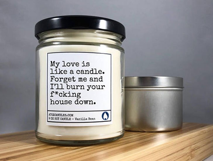 Funny Candle Scents Personalised