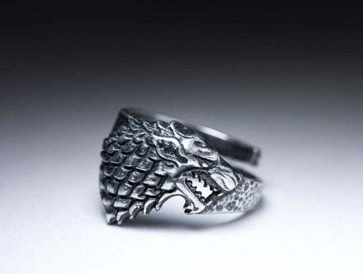 Game of Thrones House Stark Direwolf Wolf Ring