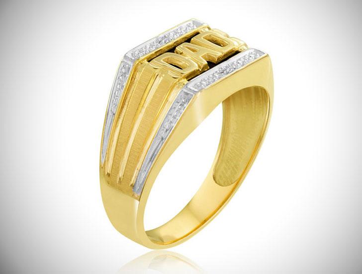 Gold Dad Signet Ring