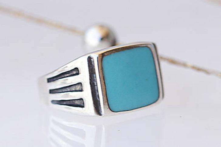Handmade Enamel Signet Ring