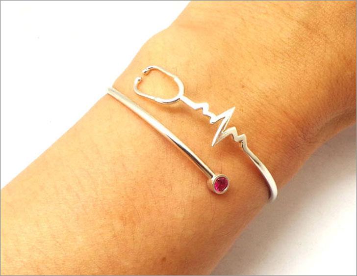 Heartbeat Stethoscope Bracelet