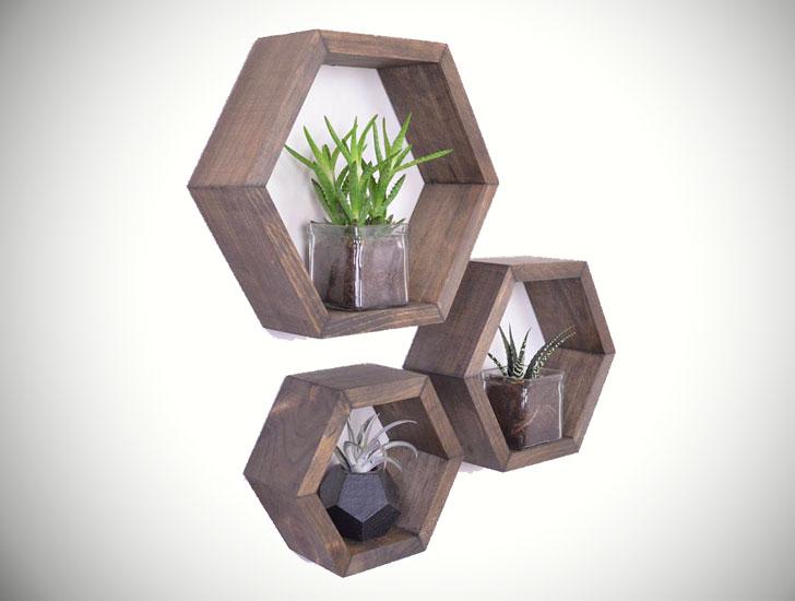 Hexagon Honeycomb Shelves