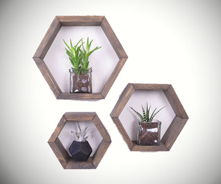 Hexagon Honeycomb Shelves
