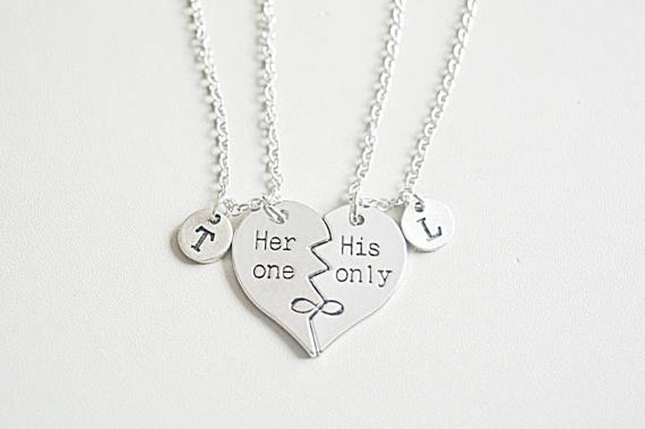 His One Her Only Broken Heart Necklaces