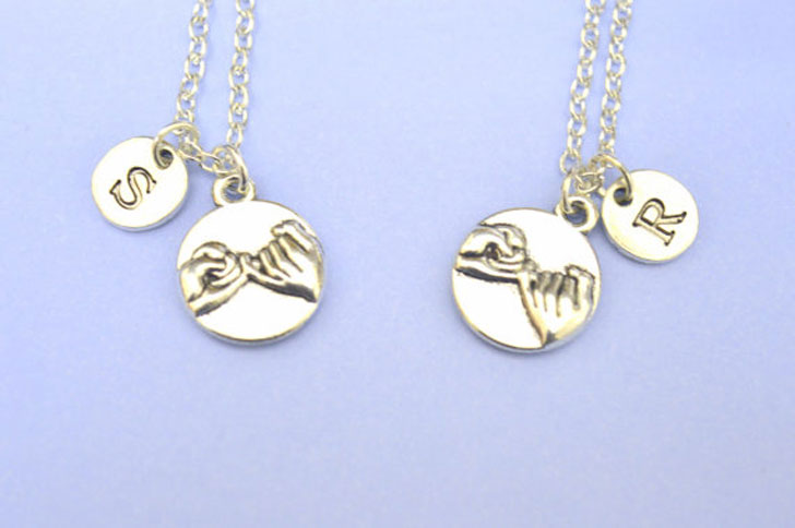 His and Hers Pinky Promise Necklace