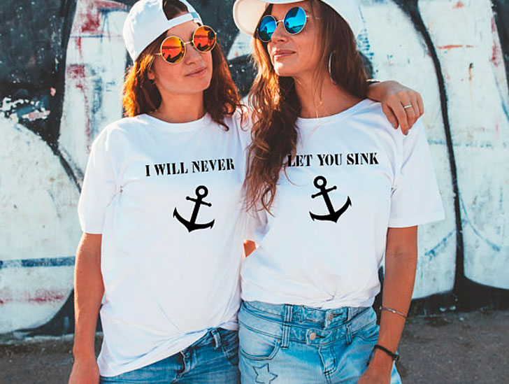 I Will Never Let You Sink Best Friend T-Shirts