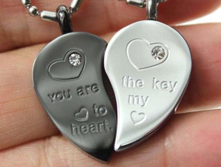 Key to My Heart Split Pendant Necklaces