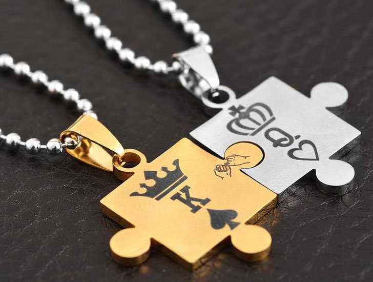 King & Queen Puzzle Necklaces