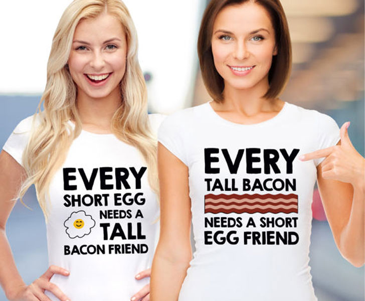 Matching Bacon and Egg Friendship T-Shirts