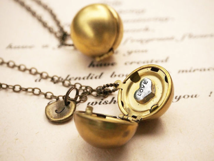 Matching Couples Love Locket Necklaces