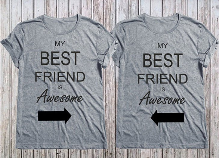 Matching My Best Friend is Awesome T-shirts