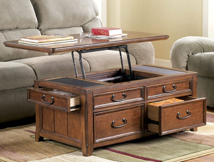 Mathis Coffee Table Trunk with Lift Top - lift-top coffee tables