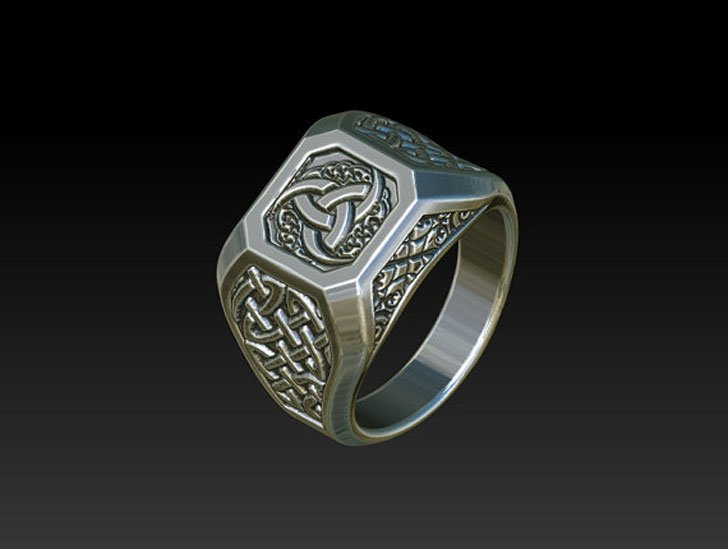 Mens Celtic Signet Rings