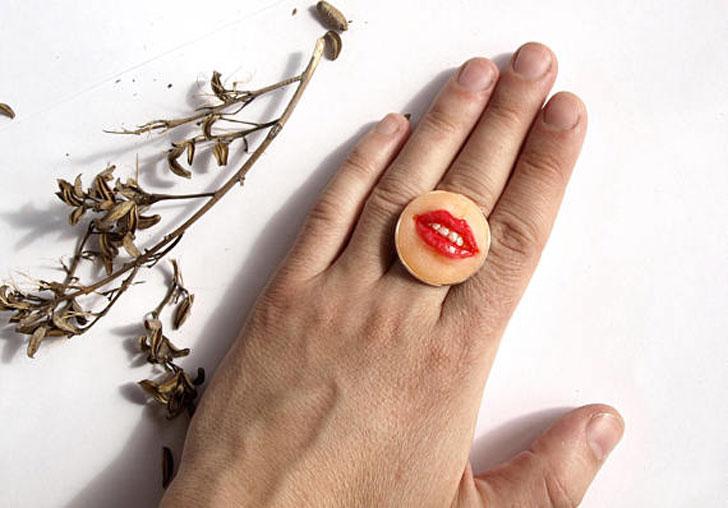 Mouth Rings - unusual rings