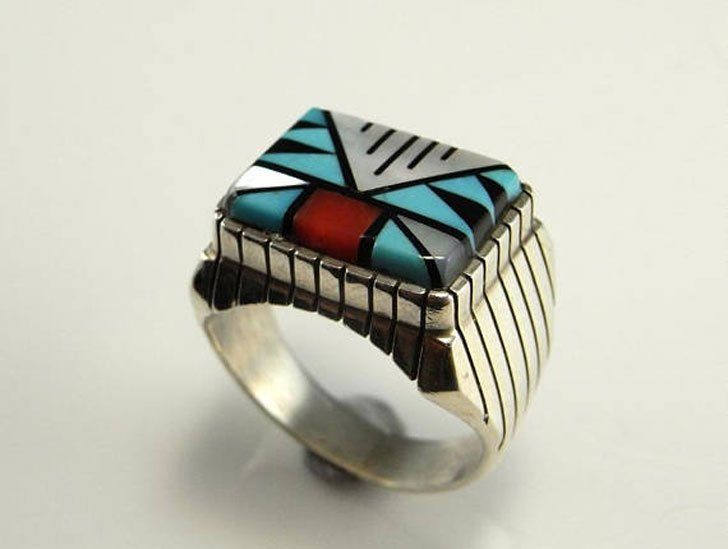 Native American Indian Signet Ring