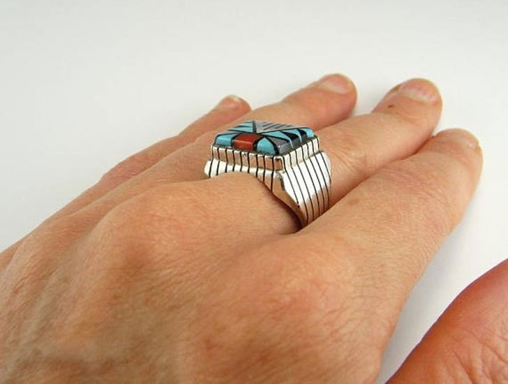 Native American Indian Signet Ring - Signet Rings for Men