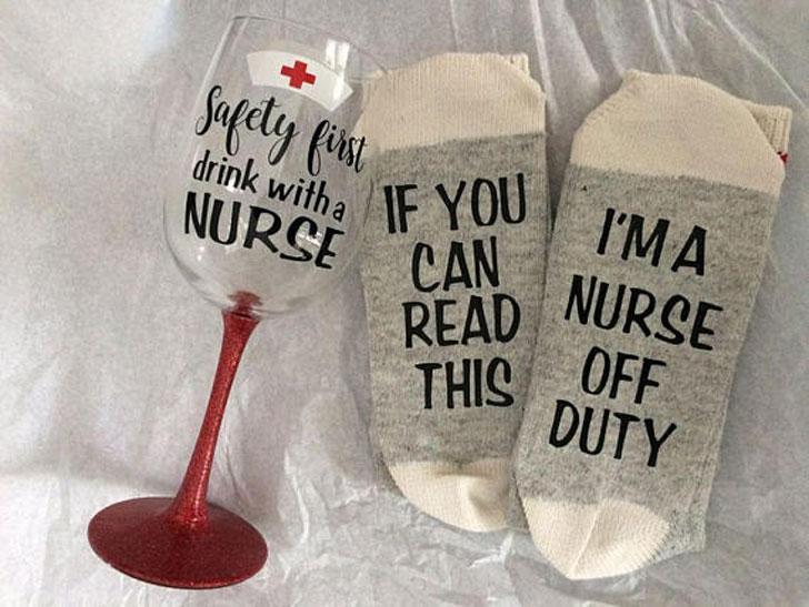 Off Duty Nurse Socks Gift